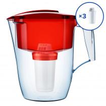 Водоочиститель Кувшин Аквафор ГАРРИ A5 + 2 доп.модуля, красный