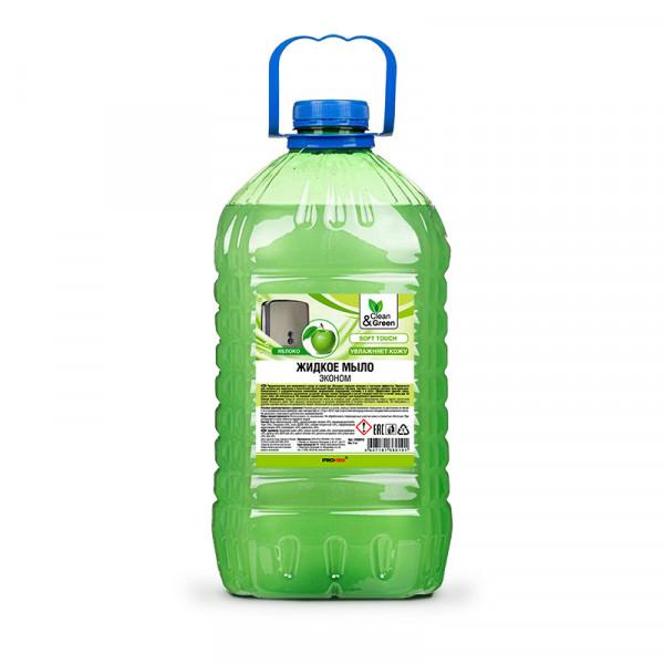 """Мыло жидкое Clean&Green CG8010 эконом """"яблоко"""" 5 кг."""