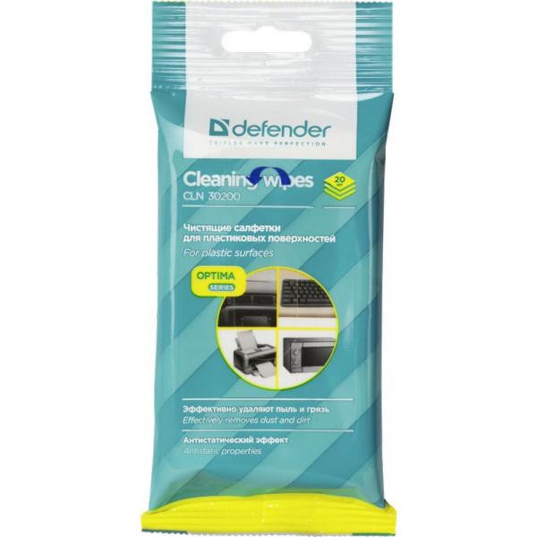 Defender Салфетки для поверхностей CLN 30200 Optima 20 шт,пакет с подвесом