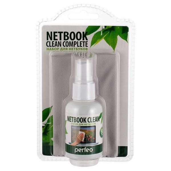 """Perfeo набор: спрей """"Netbook Clean"""" 50мл. + """"Microfiber Slim"""" 18х18см"""