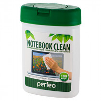 "Perfeo чистящие салфетки ""Notebook Clean"" для ноутбука, в малой тубе, 100шт."