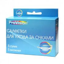 Perfeo ProVision салфетки для ухода за оптикой, 5 сухих+5 влажных