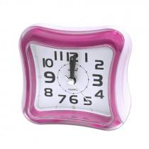 Часы с будильником 3019 розовые
