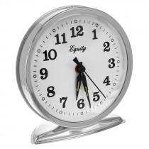 Часы с будильником 868 бел/серебристый