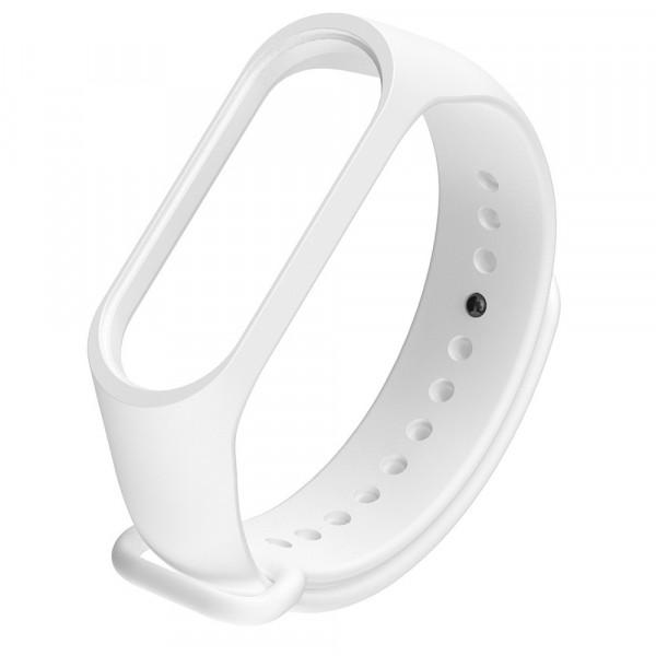 Браслет для фитнес-трекера Mi Band 5, силикон, белый