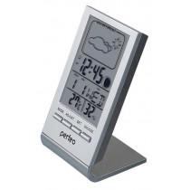 """Часы с метеостанцией Perfeo """"Angle"""", с датчиком t, влажность, дата, серебряный (PF-S2092)"""