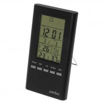 """Часы с метеостанцией Perfeo """"Meteo"""", с датчиком t, влажность, чёрный (PF-S3331F)"""