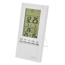 """Часы с метеостанцией Perfeo """"Meteo"""", с датчиком t, влажность, белый (PF-S3331F)"""