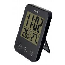 """Часы с метеостанцией Perfeo """"Touch"""", с датчиком t, влажность, чёрный (PF-S681)"""