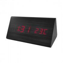 """Часы с будильником Perfeo """"Pyramid"""", LED, с датчиком t, чёрный корпус / красная подсветка (PF-S710T)"""