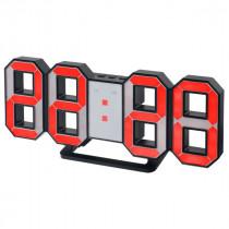 """Часы с будильником Perfeo """"LUMINOUS"""", LED, чёрный корпус / красная подсветка (PF-663)"""