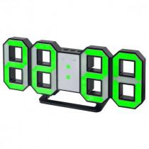 """Часы с будильником Perfeo """"LUMINOUS"""", LED, чёрный корпус / зелёная подсветка (PF-663)"""