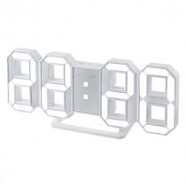 "Часы с будильником Perfeo ""LUMINOUS"", LED, белый корпус / белая подсветка (PF-663)"