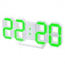 """Часы с будильником Perfeo """"LUMINOUS"""", LED, белый корпус / зелёная подсветка (PF-663)"""