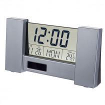 """Часы с будильником Perfeo """"City"""", с датчиком t, дата, серебряный (PF-S2056)"""