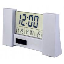 """Часы с будильником Perfeo """"City"""", с датчиком t, дата, белый, (PF-S2056)"""