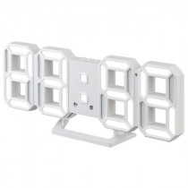"Часы с будильником Perfeo ""LUMINOUS 2"", LED, белый корпус / белая подсветка (PF-6111)"