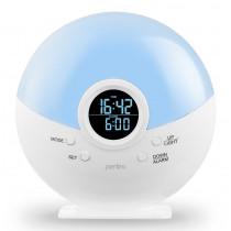 Радиочасы-будильник Perfeo Night, ночник, белый (PF-S523G)