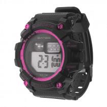 Часы наручные спортивные S-638 чёрно-розовые
