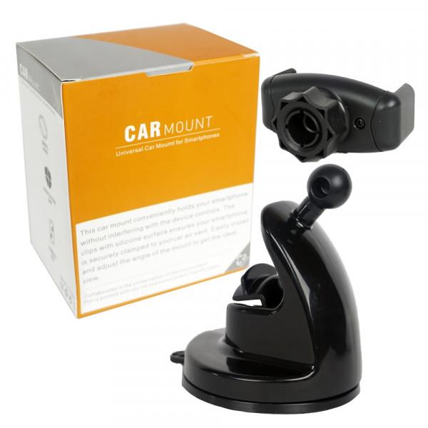 Держатель в авто для телефона Y-BJ017 раздвижной, на присоске, на стекло/панель