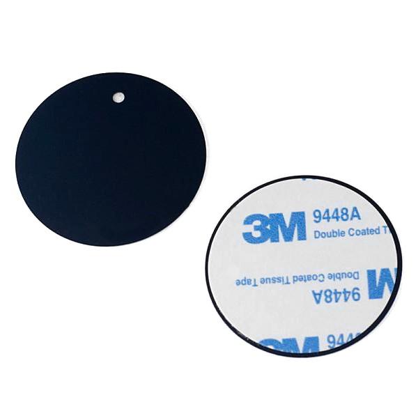 Perfeo-040 чёрный Самоклеящиеся металлические пластины для магнитного держателя 2шт D=40мм/ЗМ