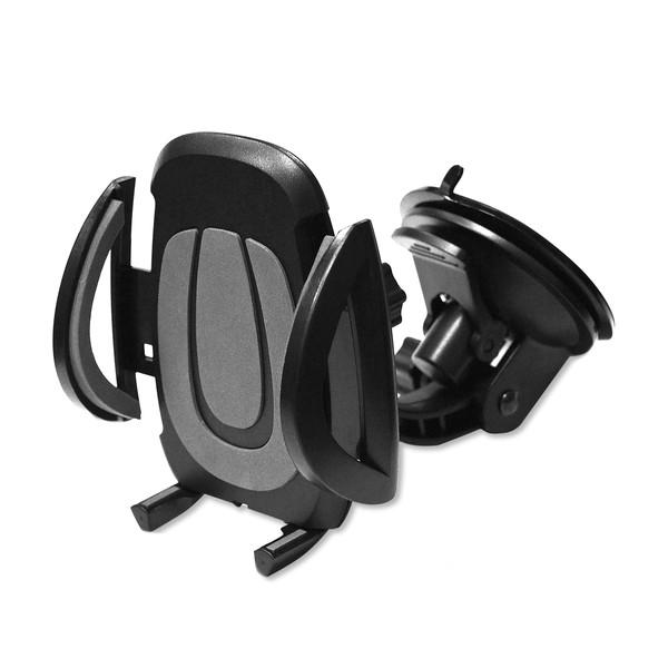 """Perfeo-520 чёрный+серый Держатель для смартфона  до 6,5""""/ на стекло/торпедо/присоска"""