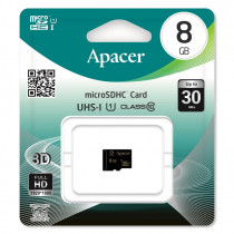 Карта памяти   8GB microSDHC class 10 Apacer UHS-I (U1) без адаптера