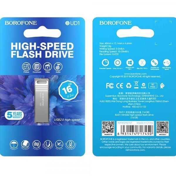 Флешка USB 16GB 2.0 Borofone BUD1