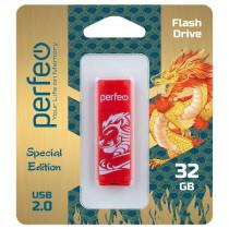 Флешка USB 32GB 2.0 Perfeo C04 Red Lion