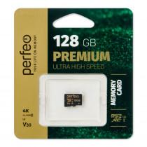 Карта памяти 128GB micro SDXC class 10  UHS-1 V30 Perfeo без адаптера