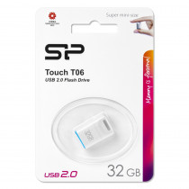 Флешка USB 32GB 2.0 Silicon Power Touch T06 White