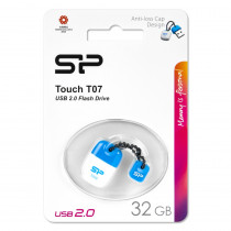 Флешка USB 32GB 2.0 Silicon Power Touch T07 Blue