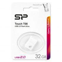 Флешка USB 32GB 2.0 Silicon Power Touch T08 White