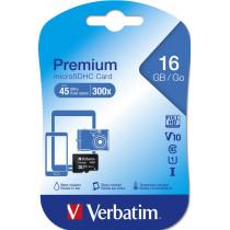 Карта памяти  16GB microSDHC class 10 Verbatim UHS-1 без адаптера