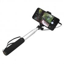 Селфи штатив Selfie Stick с пультом, зеркалом и дистанционным управлением 3.5 мм, серый