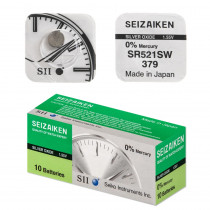 Элем.пит. AG0-10 Box SEIZAIKEN (SR521SW/379) Silver Oxide (10/100)