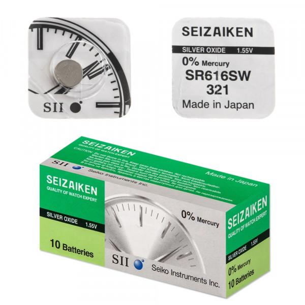 Элем.пит. R321-10 Box SEIZAIKEN (SR616SW) Silver Oxide (10/100)