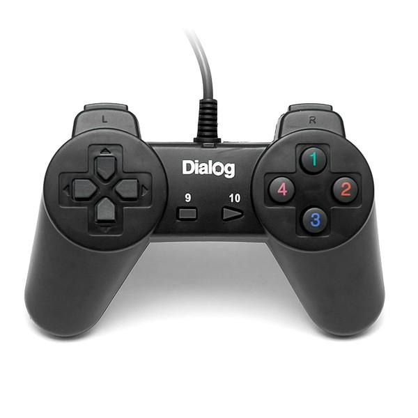Геймпад проводной GP-A01 DIalog Action - 10кнопок, USB, чёрный