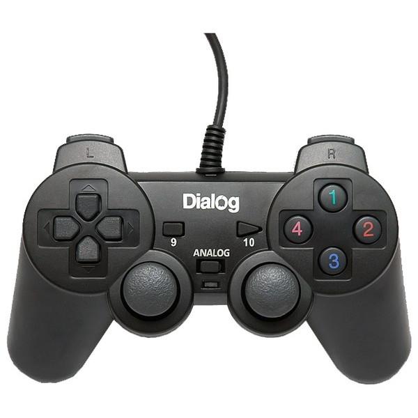 Геймпад проводной GP-A11 DIalog Action - вибрация, 12кнопок, USB, чёрный