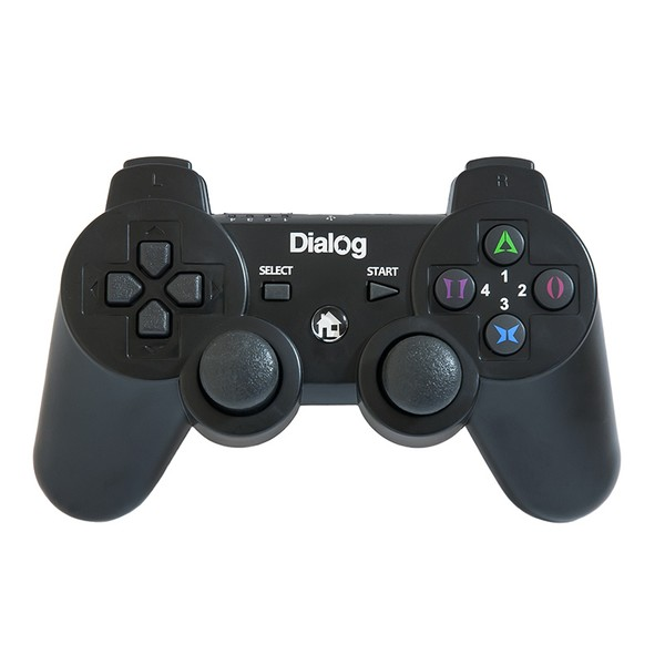 Геймпад проводной GP-A17 DIalog Action - вибрация, 12кнопок, PC USB/PS3, чёрный