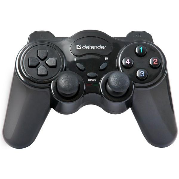 Геймпад беспроводной Defender Game Master Wireless USB, радио, 12 кнопок, 2 стика