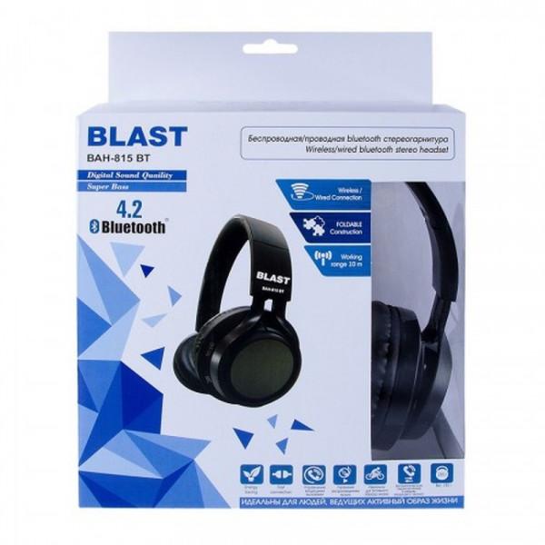 Bluetooth гарнитура (стерео) BLAST BAH-815 BT, полноразмерная, чёрный