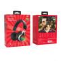 Bluetooth гарнитура (стерео) Borofone BO8, полноразмерная, (TF, AUX), с цветомузыкой, чёрн/красный
