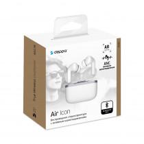Bluetooth гарнитура (стерео)  TWS Deppa Air Icon, белый