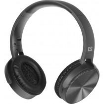 Bluetooth гарнитура (стерео) Defender FreeMotion B555, полноразмерная, чёрный