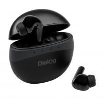 Bluetooth гарнитура (стерео)  TWS Dialog ES-230BT с док.станцией, сенсорное управление, чёрная