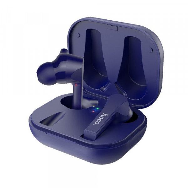 Bluetooth гарнитура (стерео)  TWS Hoco ES34, с док.станцией, синий