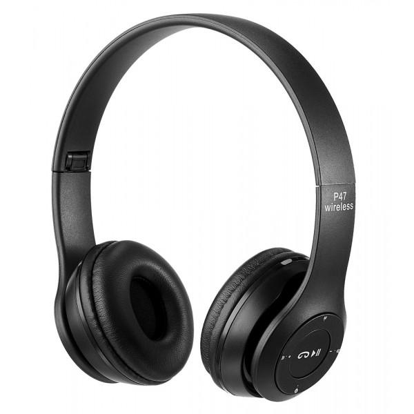 Bluetooth гарнитура (стерео) P47, накладная, чёрный