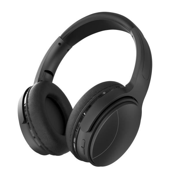 Bluetooth гарнитура (стерео) Perfeo ELLIPSE полноразмерная, с микрофоном, MP3-плеер, FM, AUX, чёрный