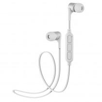 Bluetooth гарнитура (стерео)  шейный шнурок, Perfeo YO внутриканальная, с микрофоном, белый